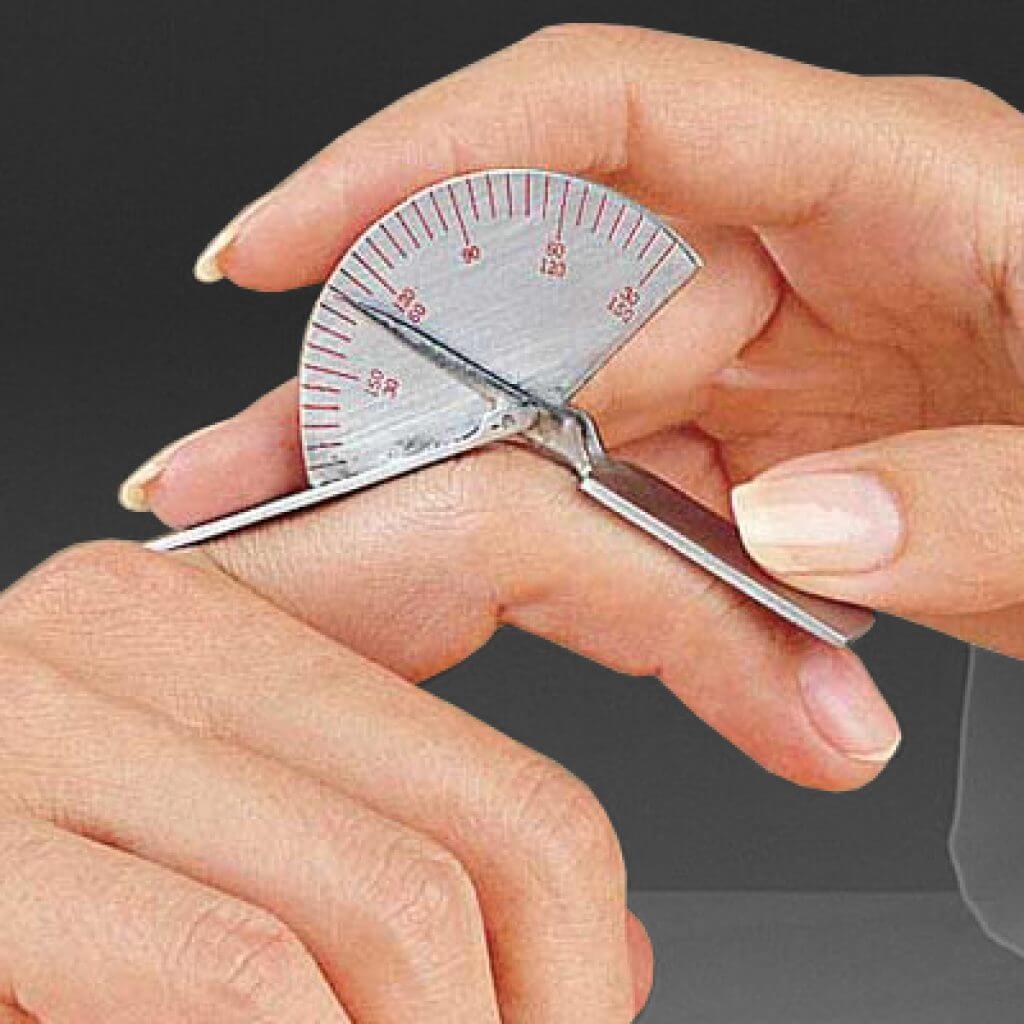Misurazione goniometrica delle articolazioni della mano